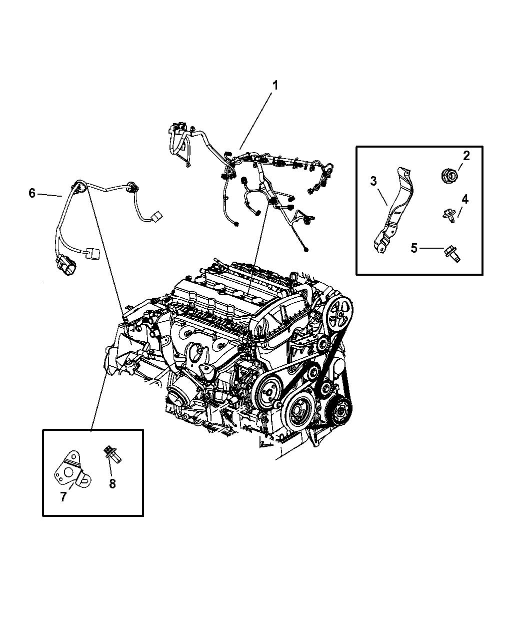 4795876AB - Genuine Mopar BRACKET-WIRING