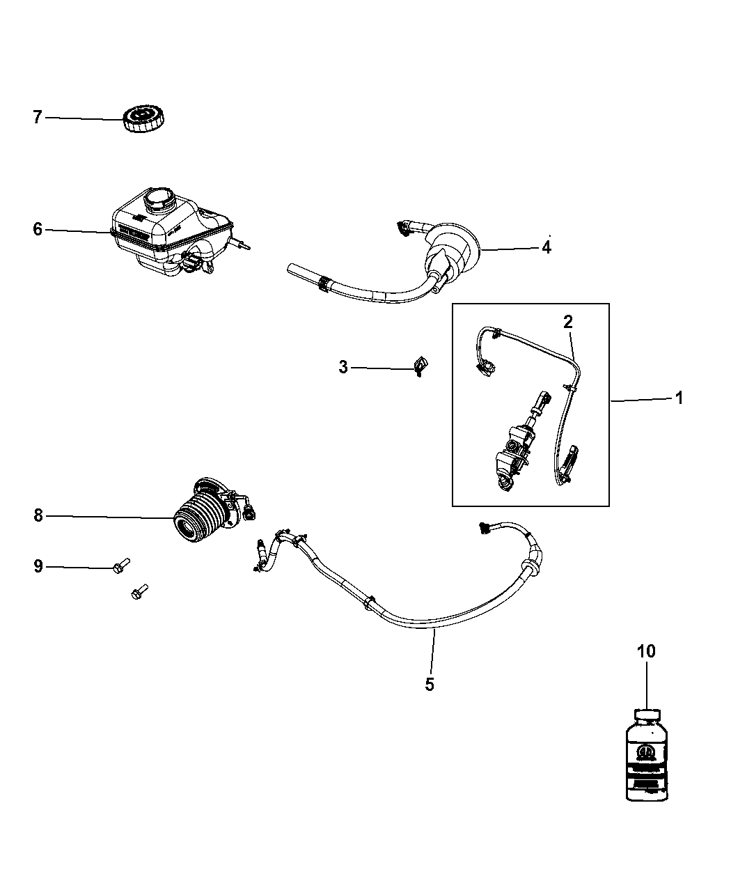 2012 Dodge Challenger Controls, Hydraulic Clutch