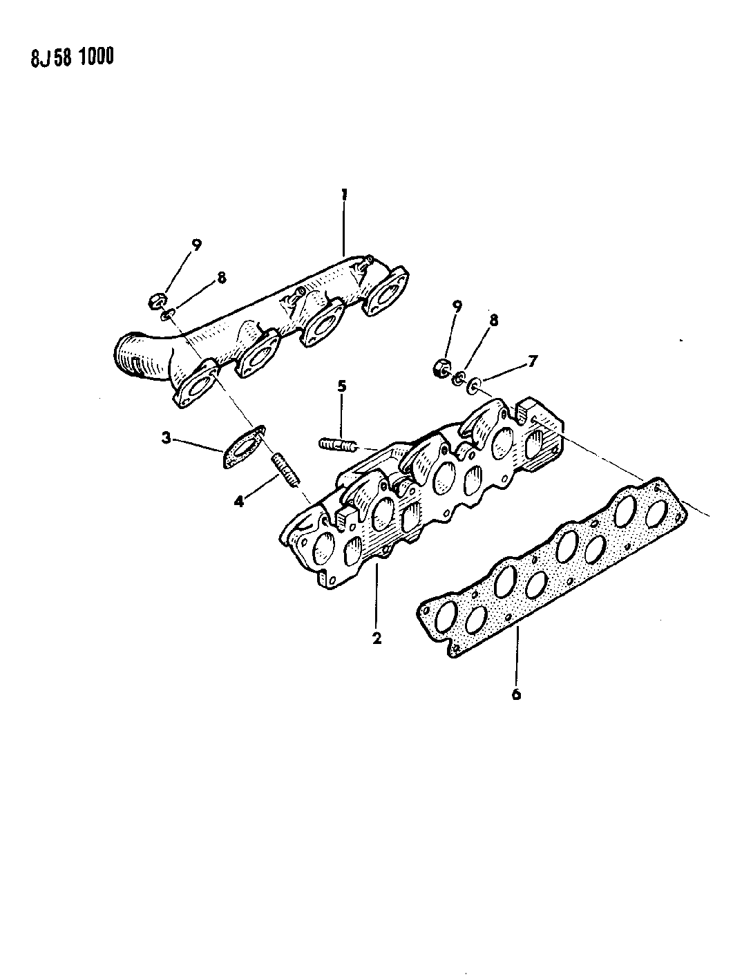 1989 Jeep Wrangler Manifold Intake Exhaust Engine Diagram Thumbnail 3