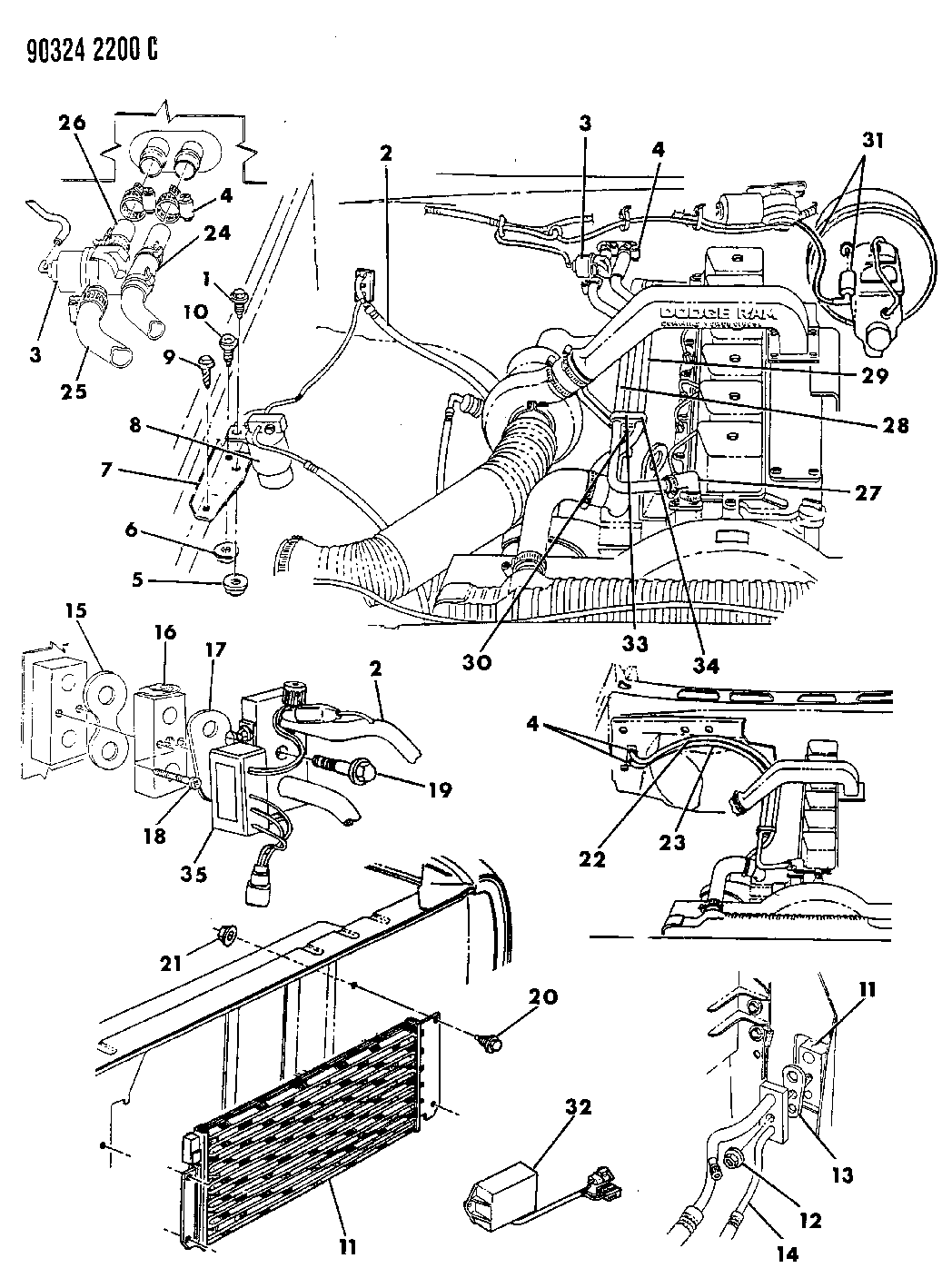 1992 Toyota Pickup 3 0l Parts Diagram