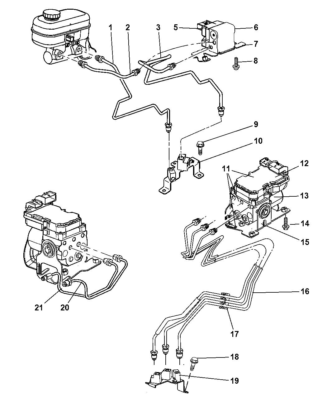 52010258ab genuine dodge line brake rh moparpartsgiant com dodge stratus brake line diagram dodge durango brake line diagram