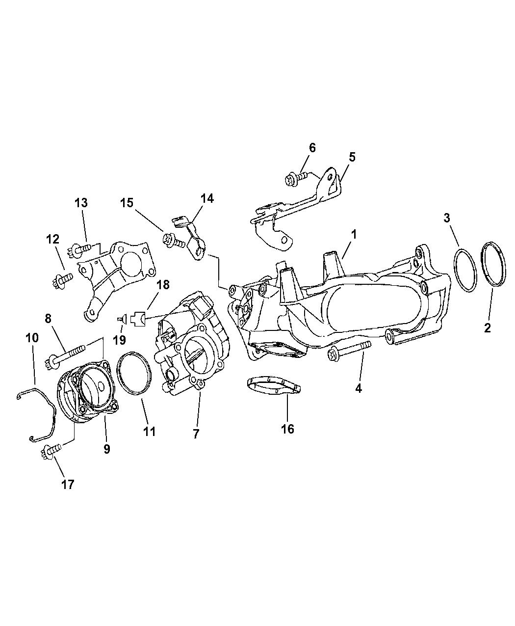 2007 Dodge Sprinter 2500 Intake Manifold Mopar Parts Giant Engine Diagram Manufold Thumbnail 2