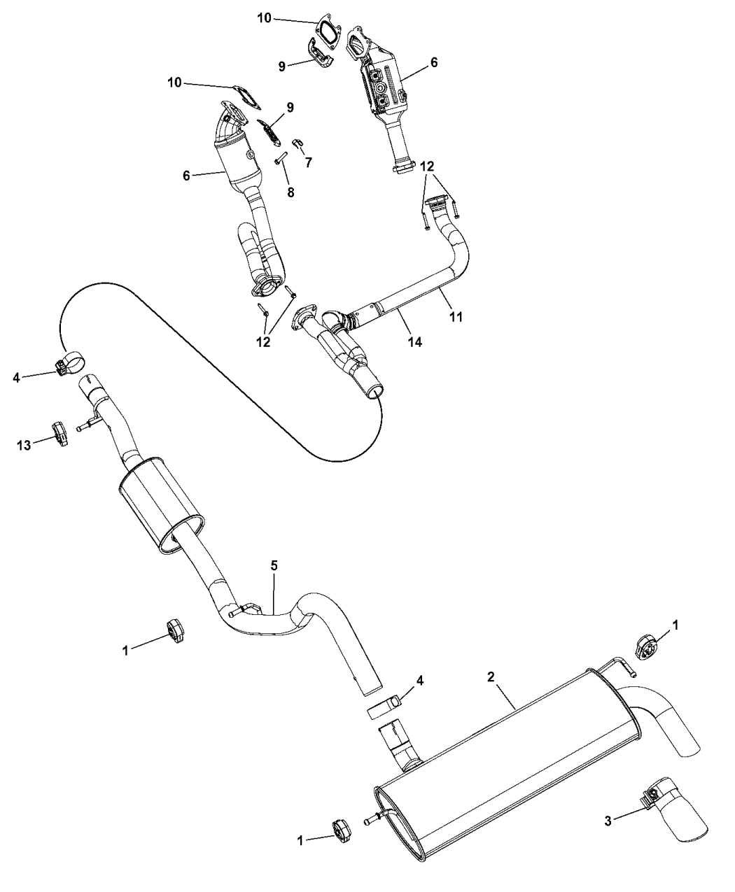 68085148AG  Genuine Mopar CONVERTER   EXHAUST