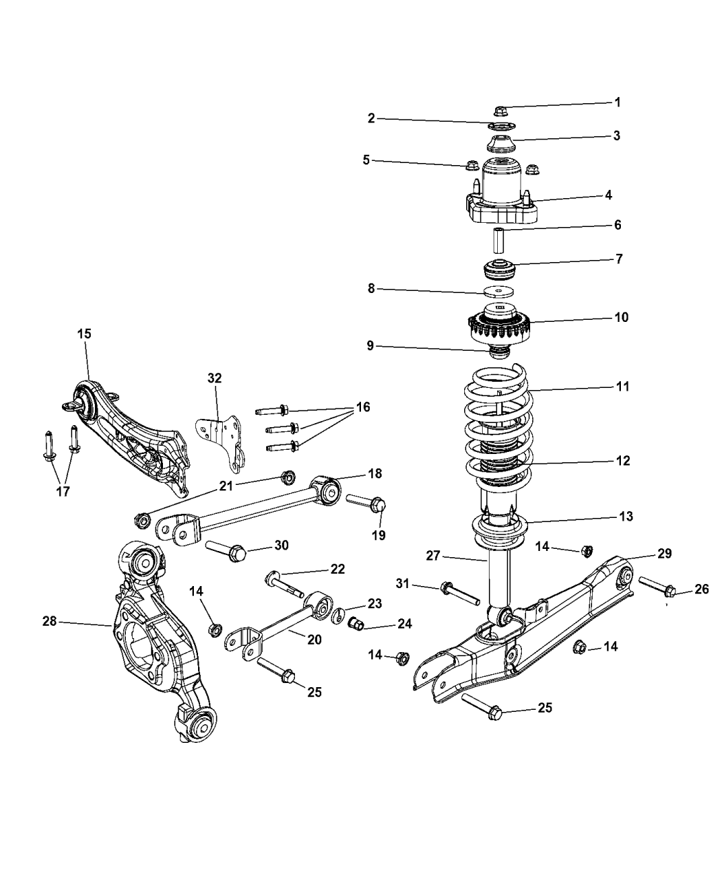 2012 dodge avenger suspension - rear