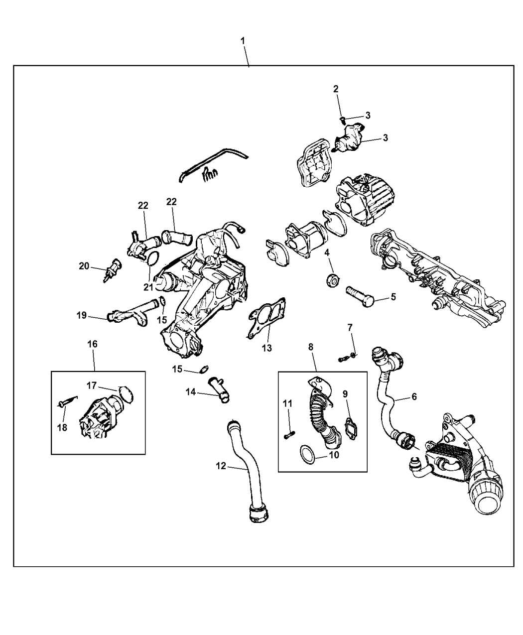 2012 dodge journey egr controls mopar parts giant rh moparpartsgiant com 2012 Dodge Journey Headlight Dodge Journey 3.6 Engine Diagram