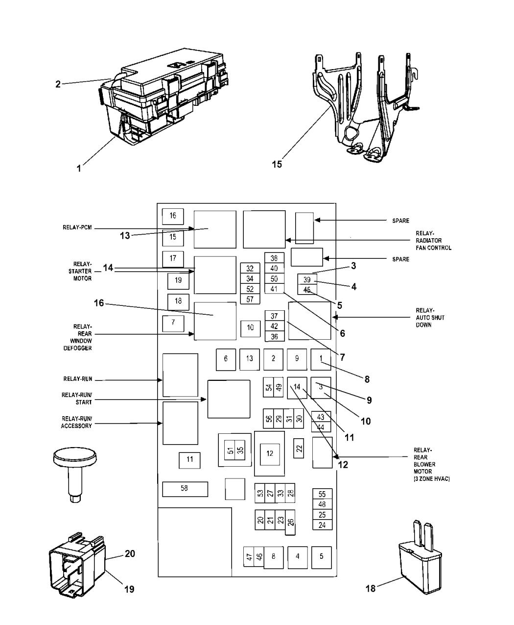 rl049720at genuine mopar module totally integrated power. Black Bedroom Furniture Sets. Home Design Ideas
