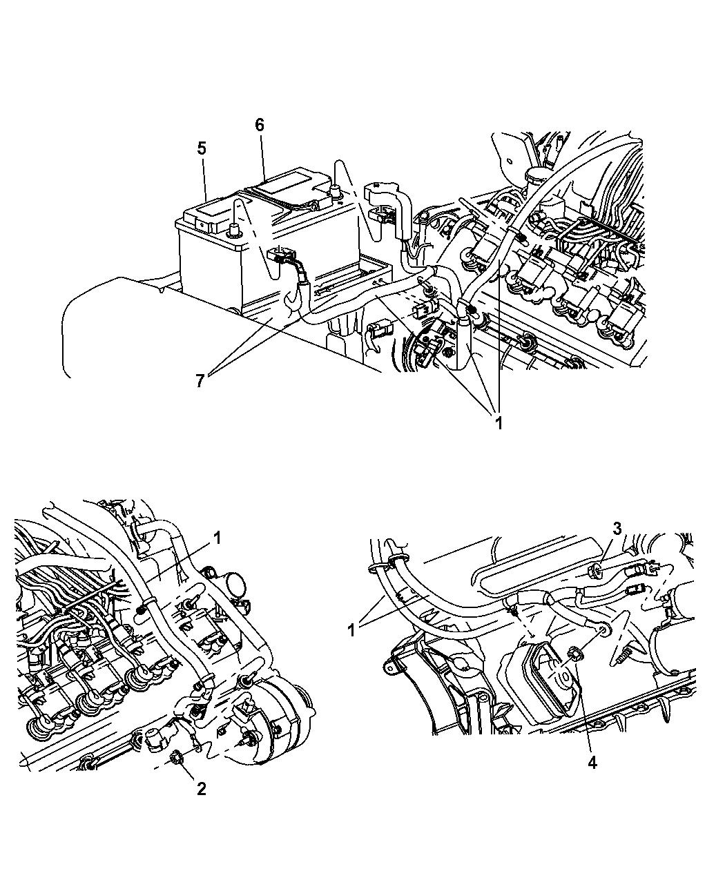 56044194AE - Genuine Jeep WIRING-ALTERNATOR AND BATTERY