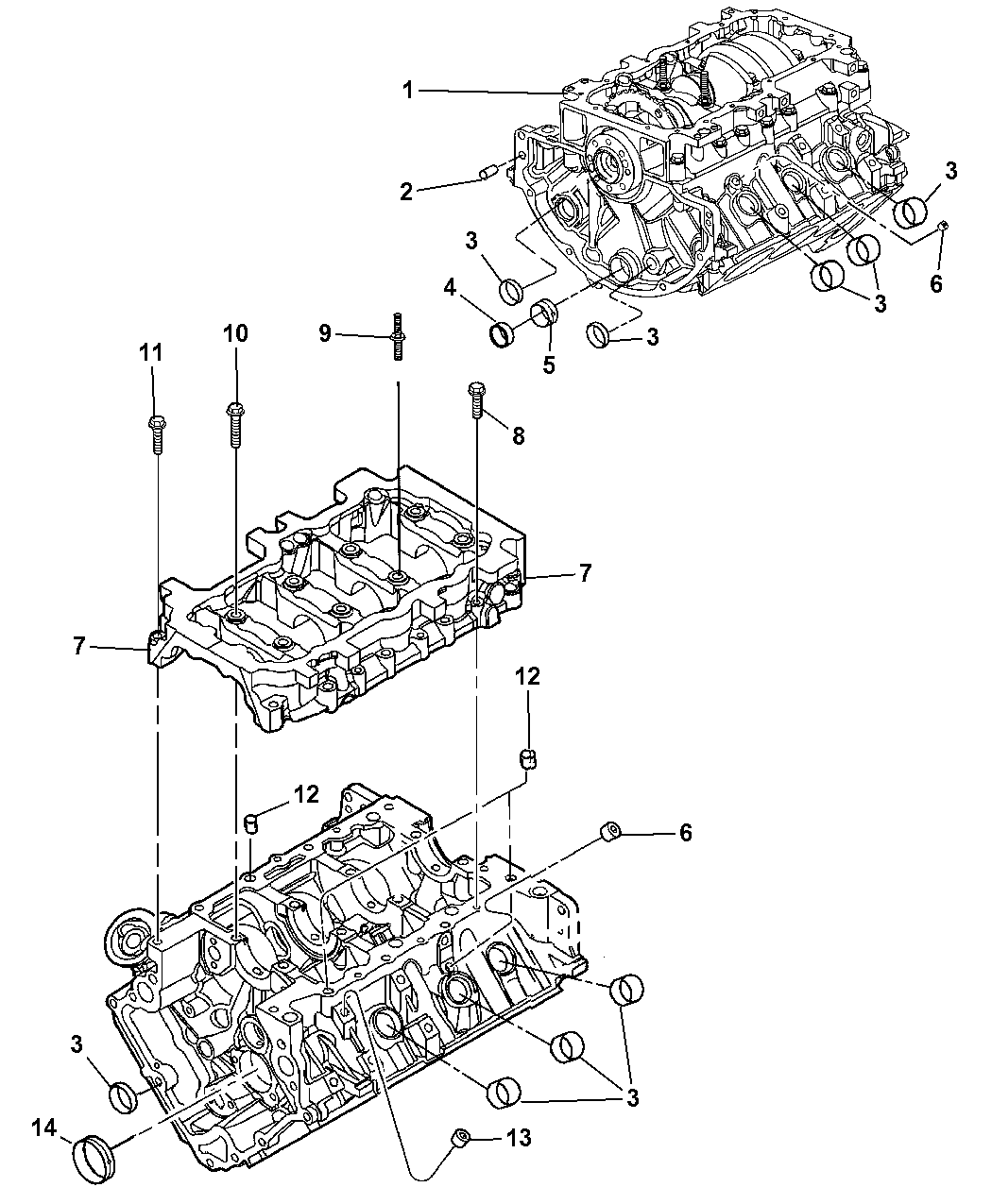 2011 Dodge Nitro Engine Cylinder Block Hardware Diagram Thumbnail 1