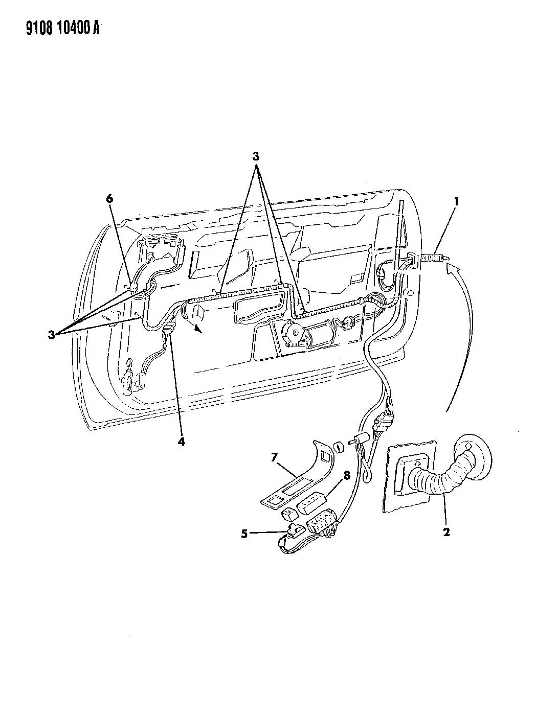 1989 chrysler tc maserati wiring switches front door rh moparpartsgiant com
