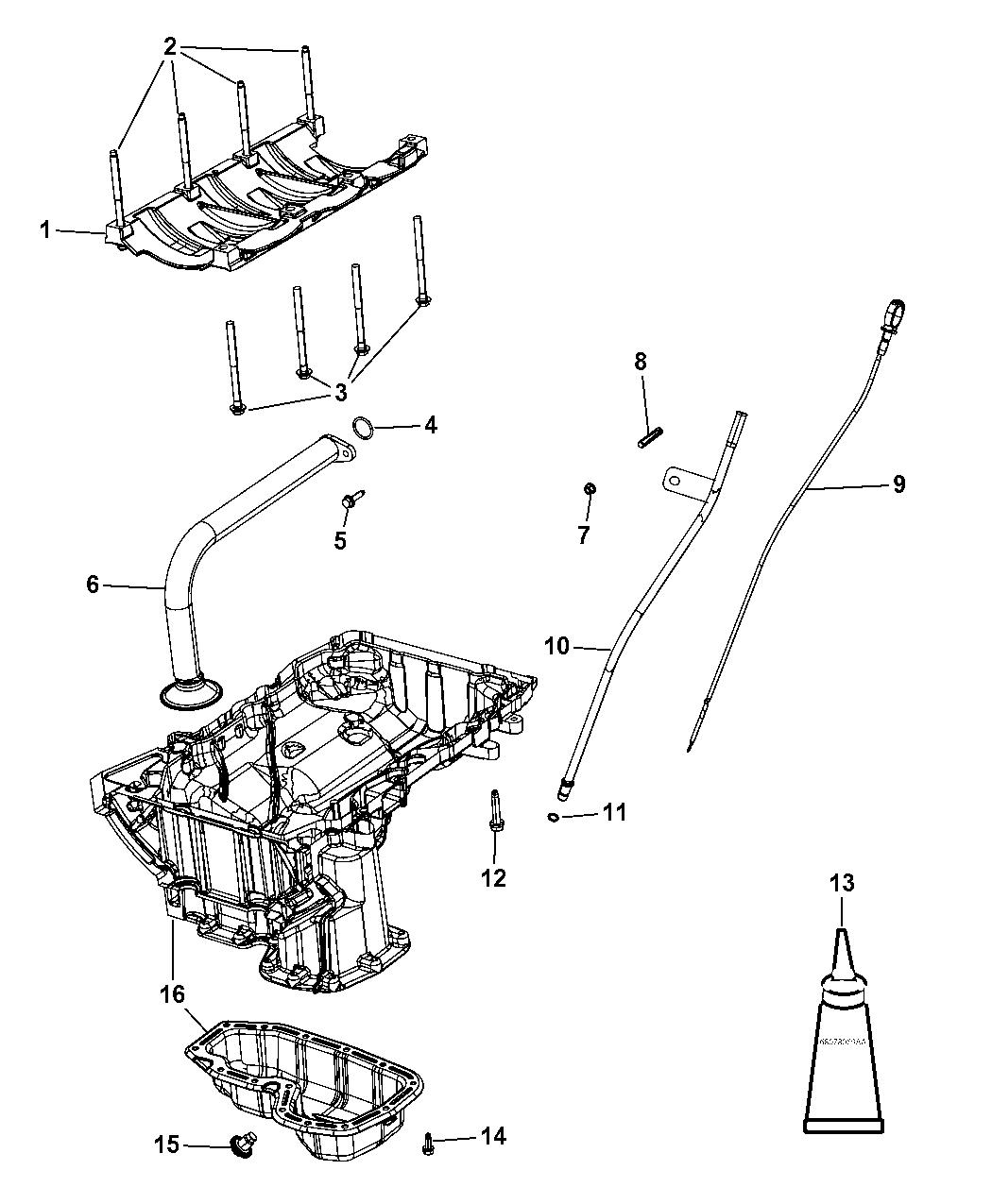 Dodge Durango Jeep Grand Cherokee Engine Oil Level Sensor