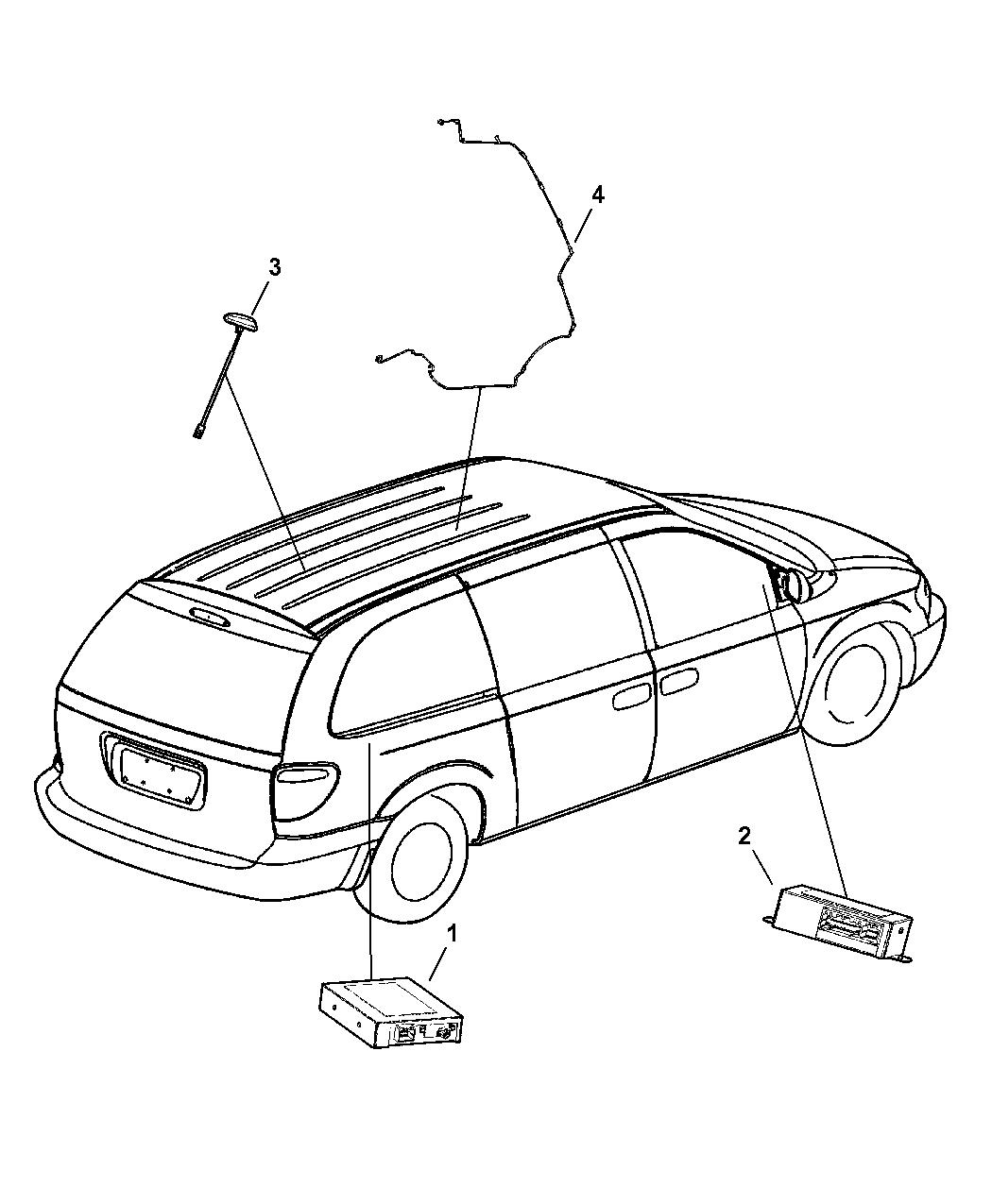 2006 Dodge Grand Caravan Satellite Radio System