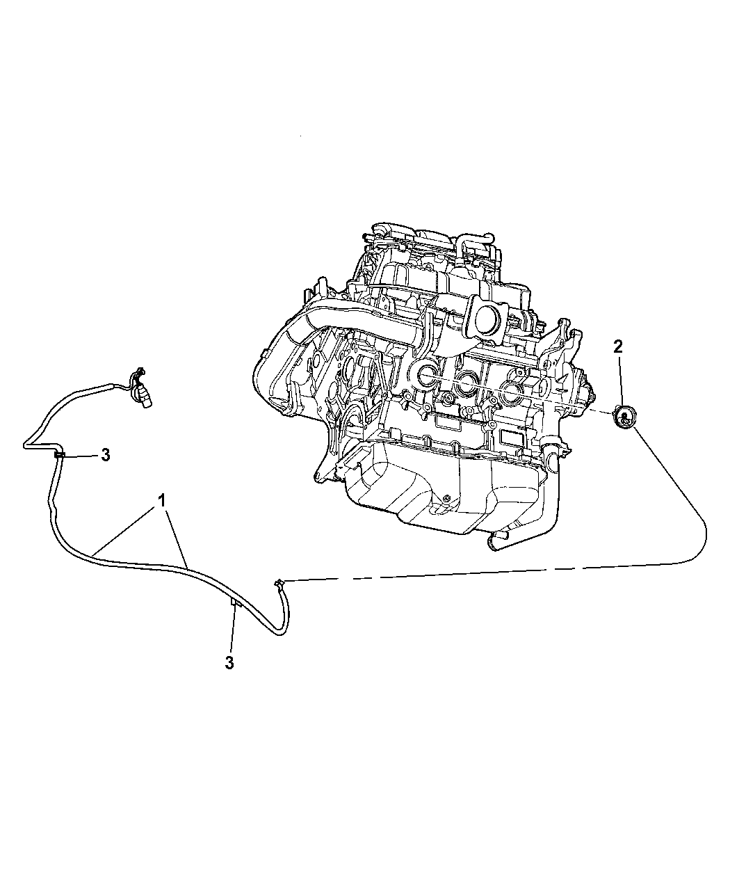 2008 Dodge Grand Caravan Engine Cylinder Block Heater Diagram Thumbnail 2