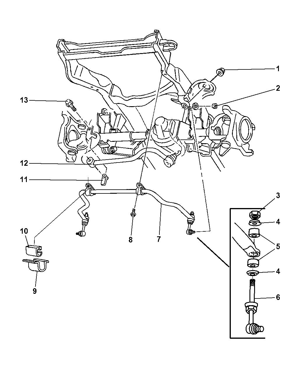 1997 Dodge Ram 1500 Front Stabilizer Bar  U0026 Track Bar