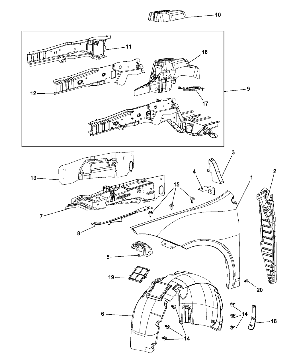 2015 Dodge Dart Front Fender