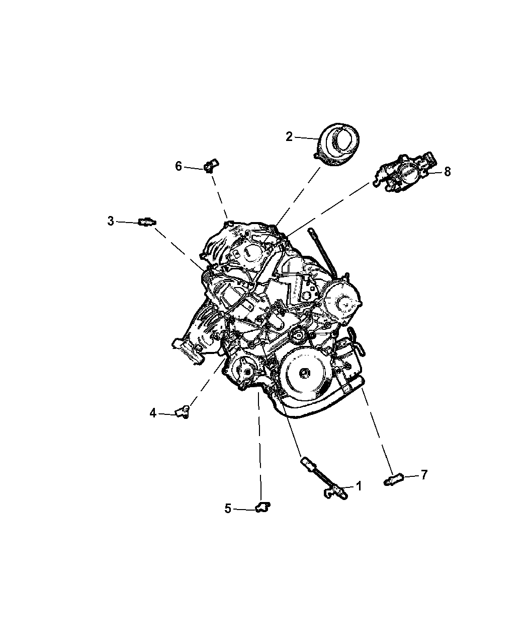 jeep engine diagram cam 5149176aa - genuine jeep sensor-charge air temp 2014 jeep engine diagram #9