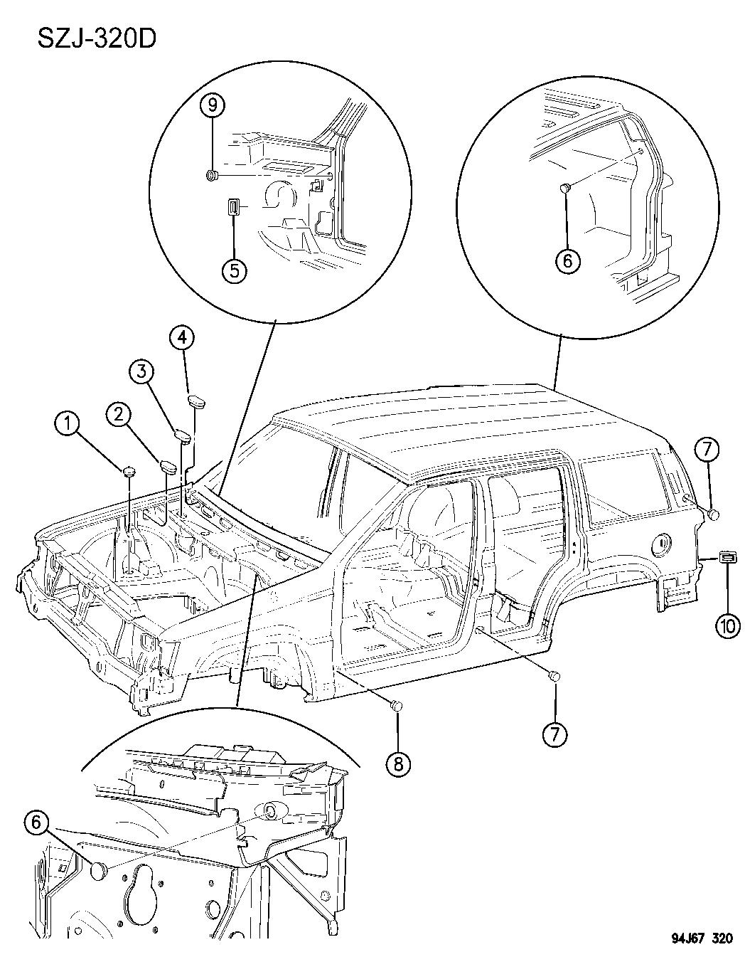 Jeep Grand Cherokee Body Parts Diagram