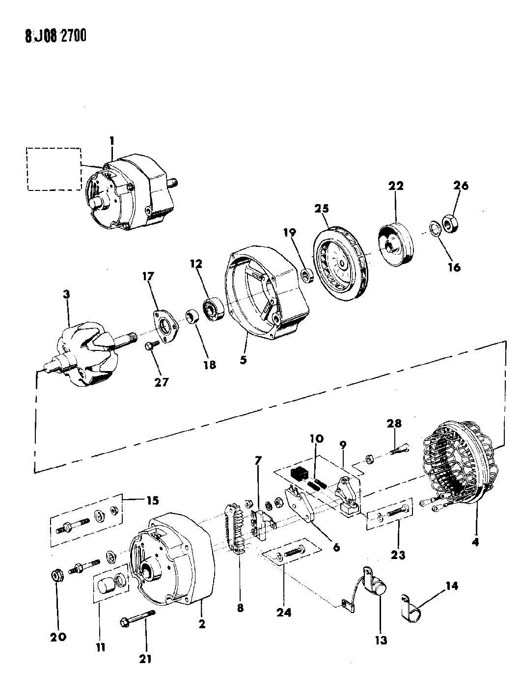 1987 jeep j10 alternator & mounting - thumbnail 1