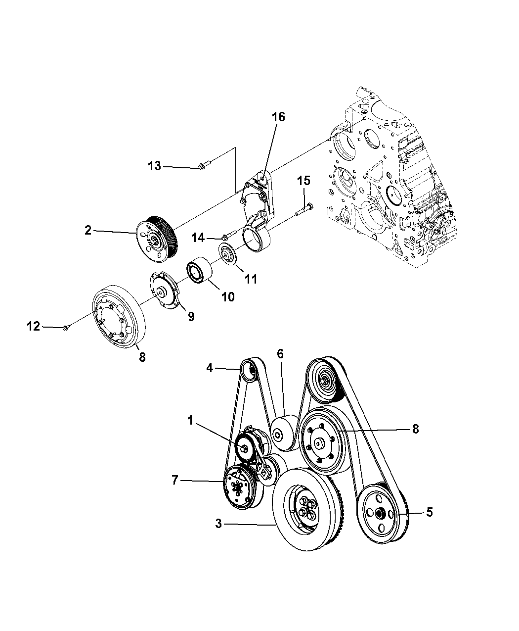 5183490AA - Genuine Mopar PKG-ALTERNATOR