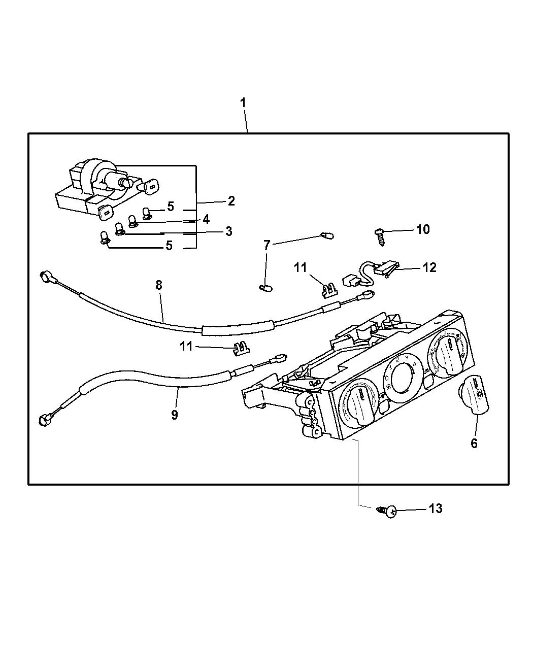 2004 chrysler sebring coupe heater  u0026 a  c controls