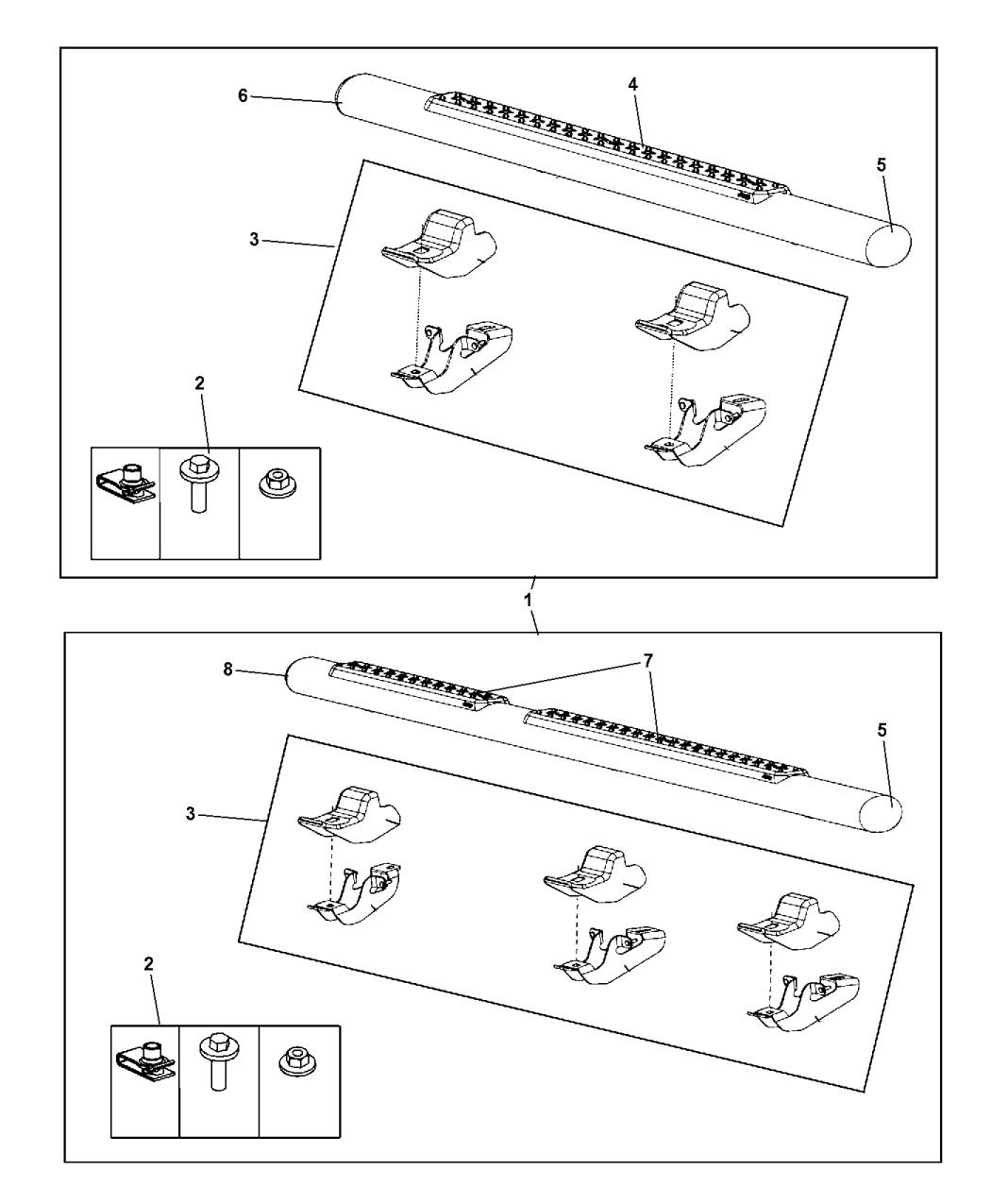82210562ae genuine jeep step kit tubular side. Black Bedroom Furniture Sets. Home Design Ideas