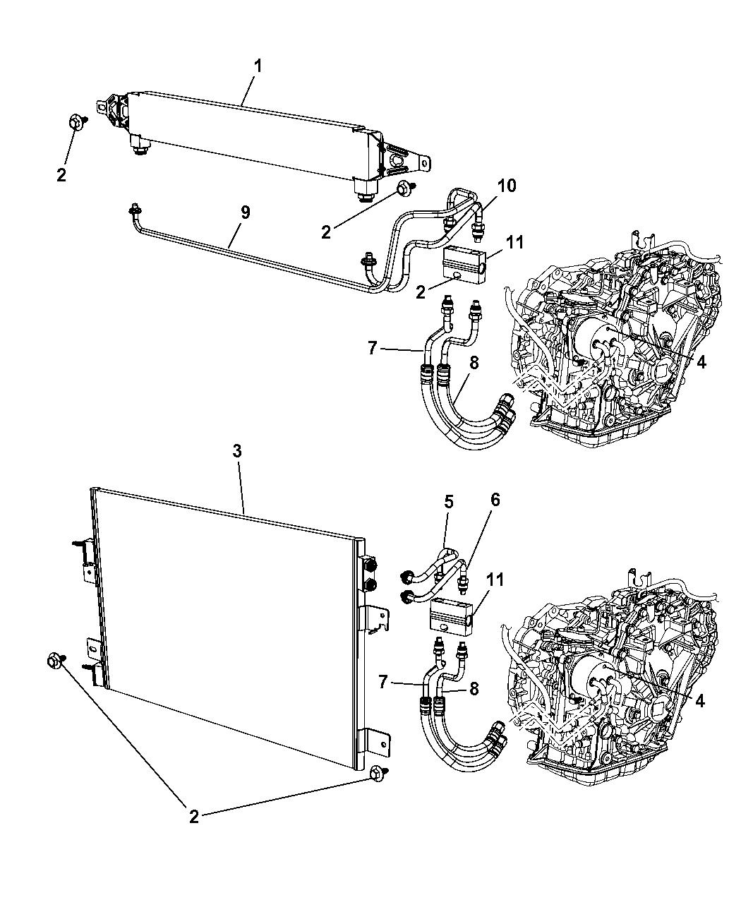 2008 dodge caliber transmission oil cooler \u0026 lines2008 Dodge Transmission Diagrams #4