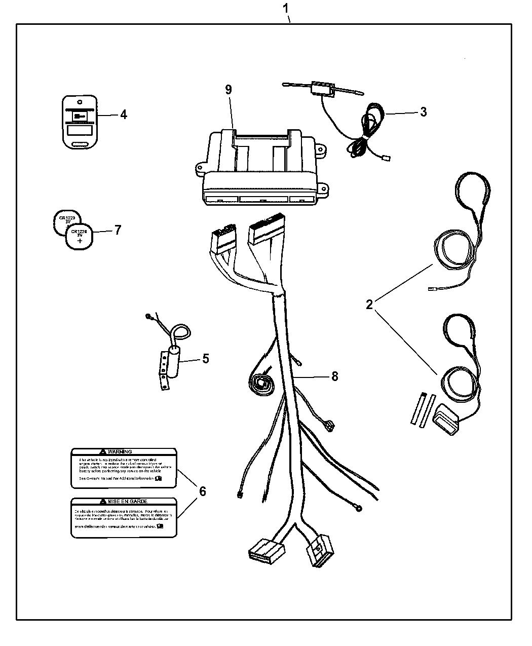 2006 Dodge Dakota Remote Start - Installation Kit