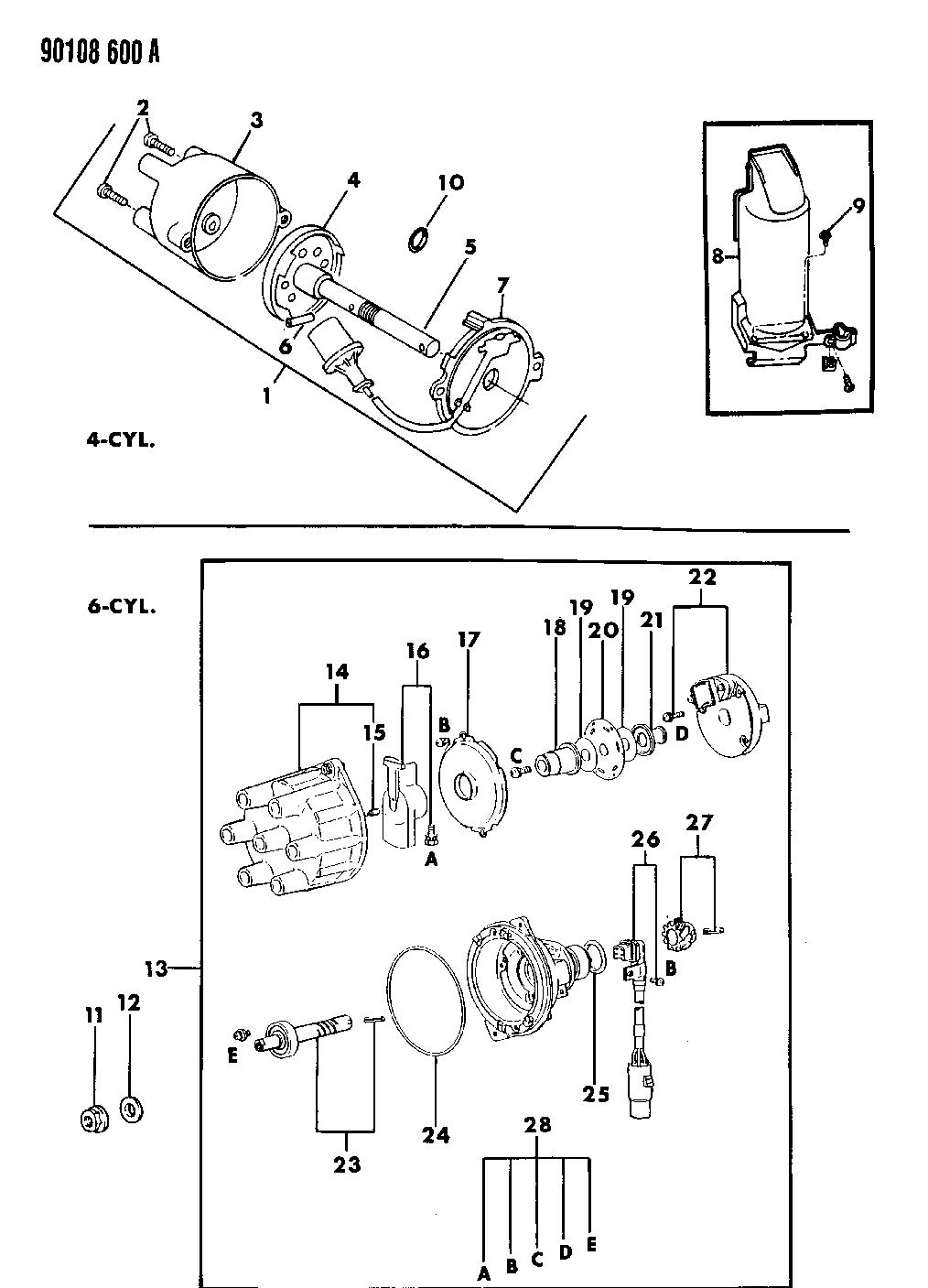 1990 dodge dynasty wiring diagram 1990 dodge dynasty distributor mopar parts giant  dodge dynasty distributor mopar parts