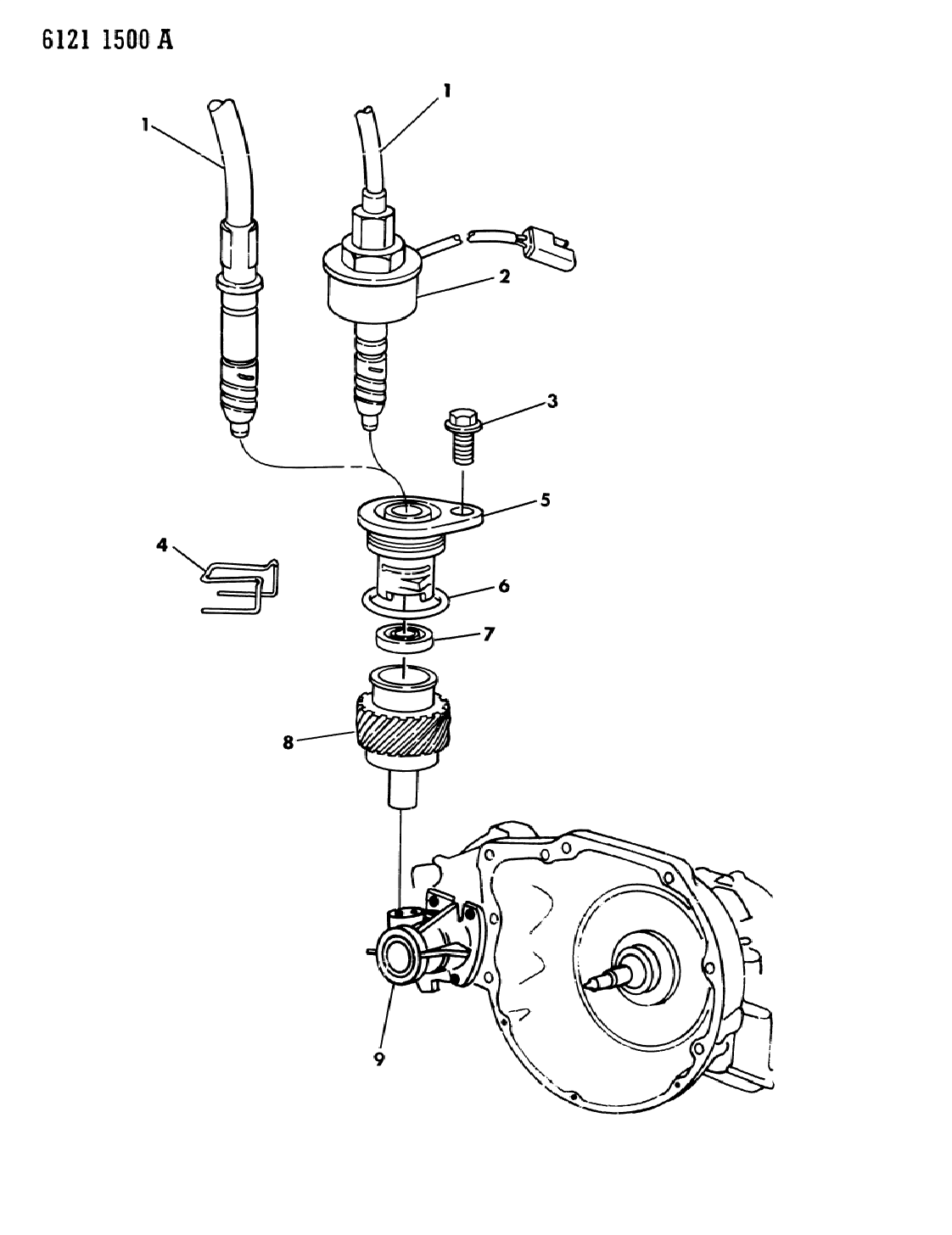 1986 Chrysler LeBaron Base Pinion, Speedometer Cable Drive