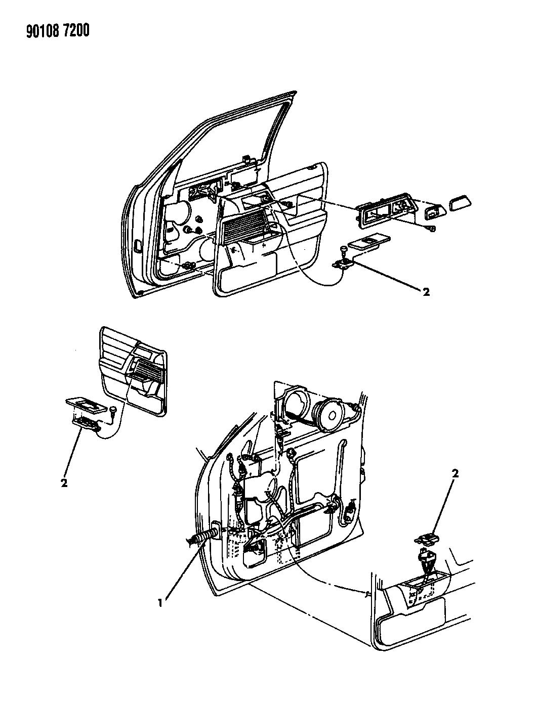 1990 Chrysler Lebaron Sedan Wiring  U0026 Switches