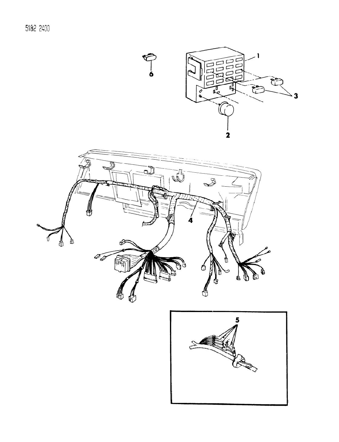 1985 Dodge Caravan Instrument Panel Wiring