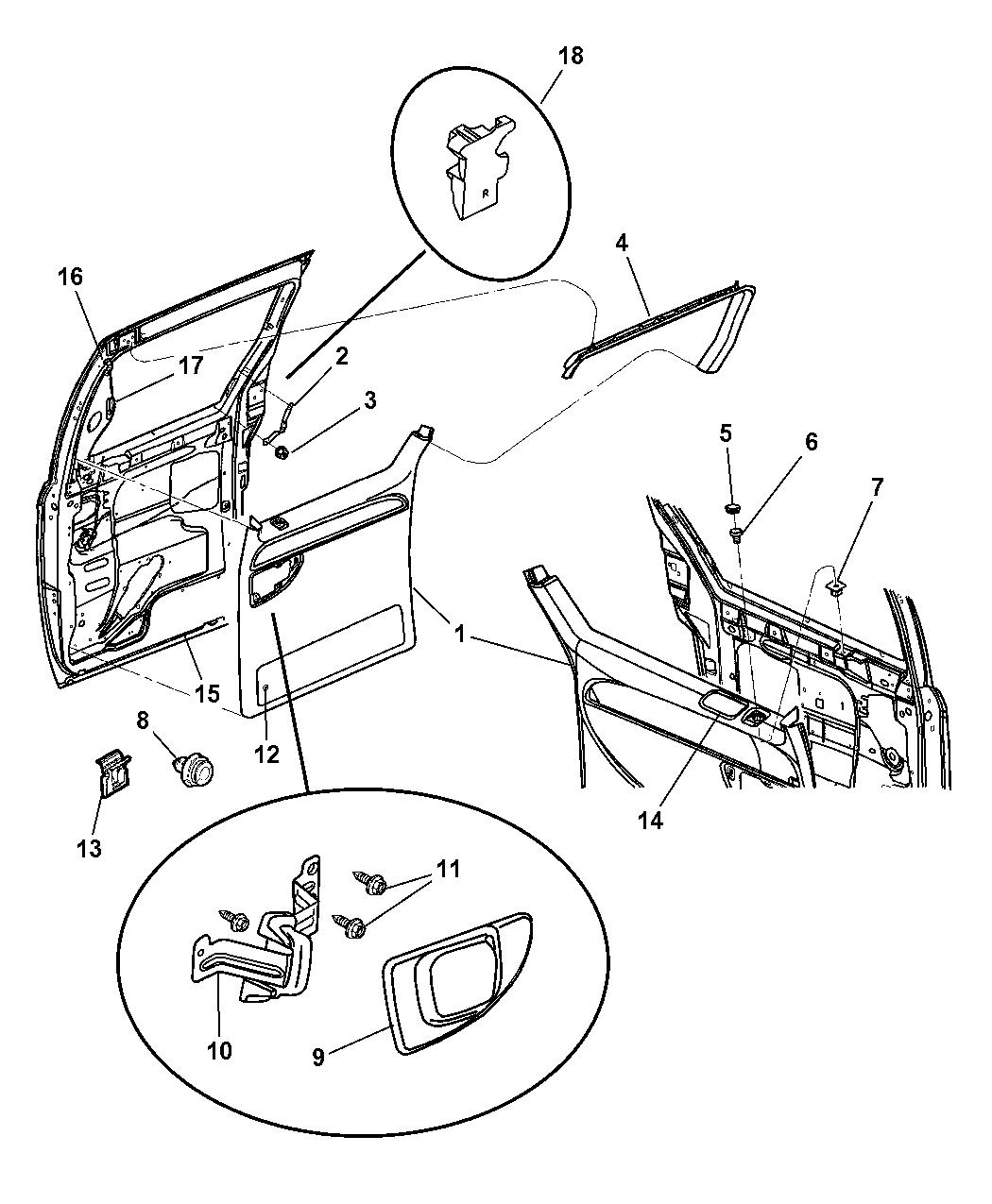 2006 Chrysler Town Country Door Panel Rear Sliding Amp Fuse Diagram