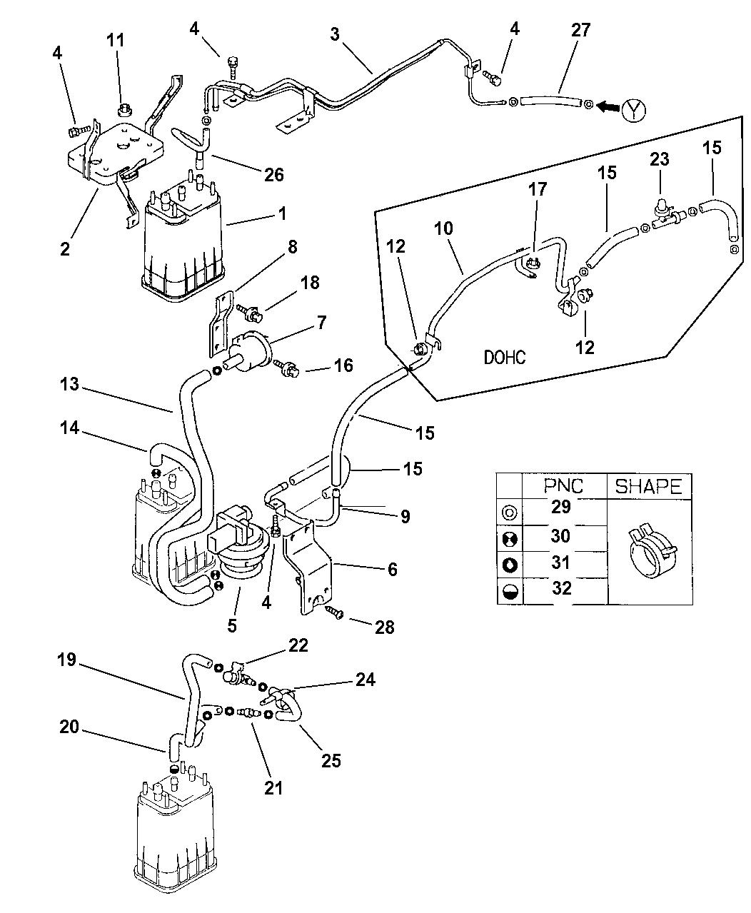 1997 chrysler sebring coupe vapor lines avenger & sebring