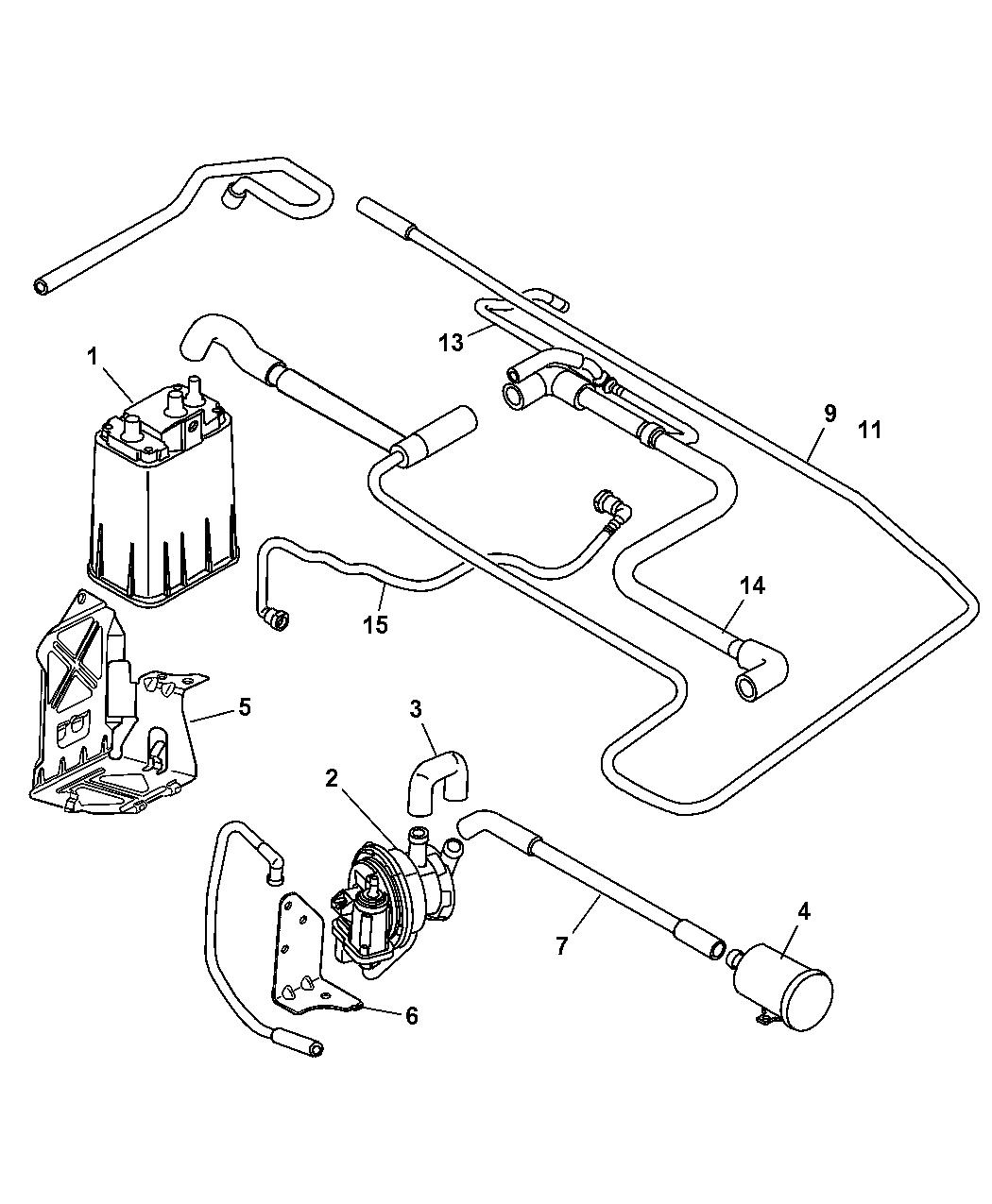 2005 Chrysler PT Cruiser Vapor Canister & Leak Detection Pump