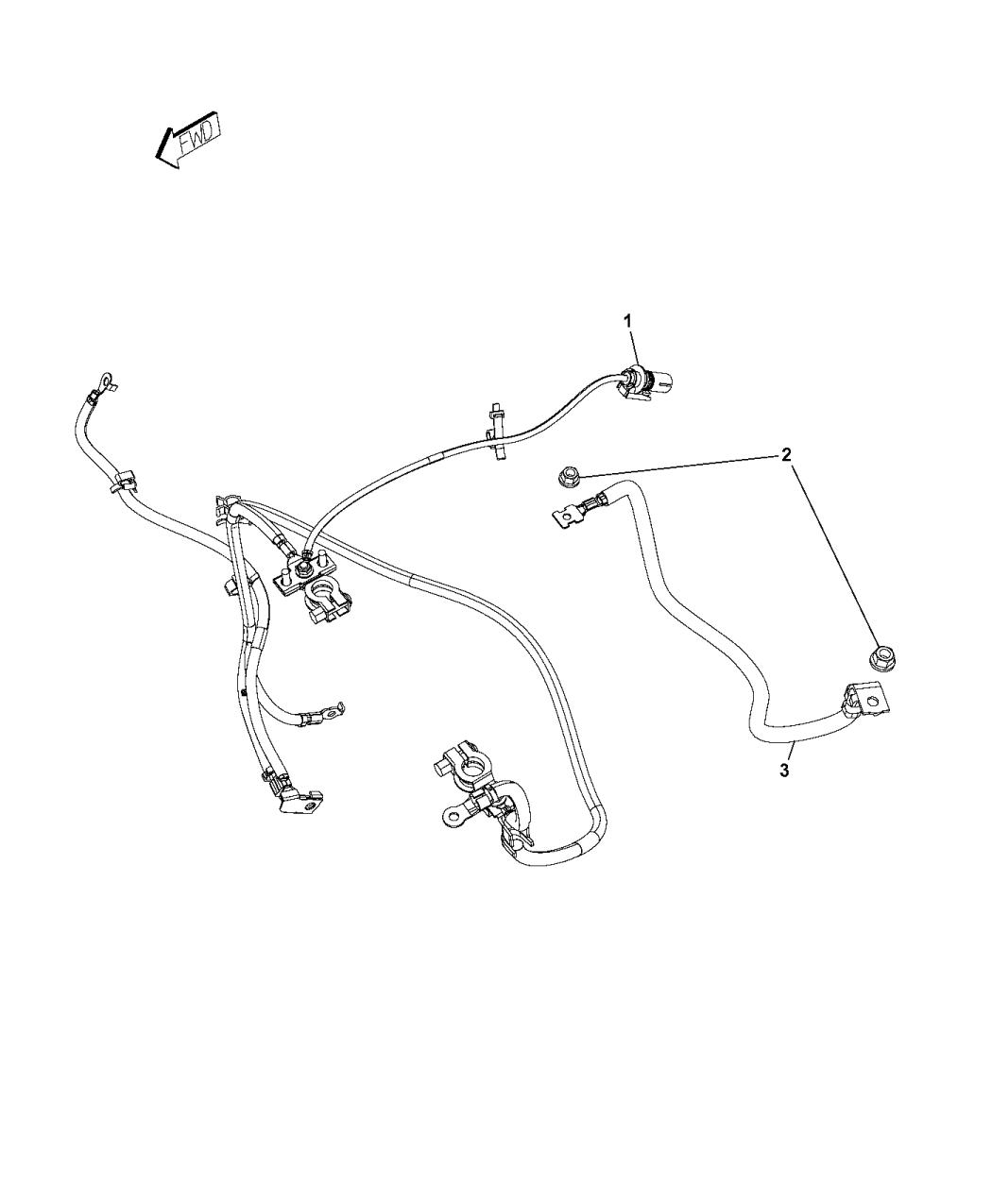 4801329AD - Genuine Mopar WIRING-BATTERY FEED