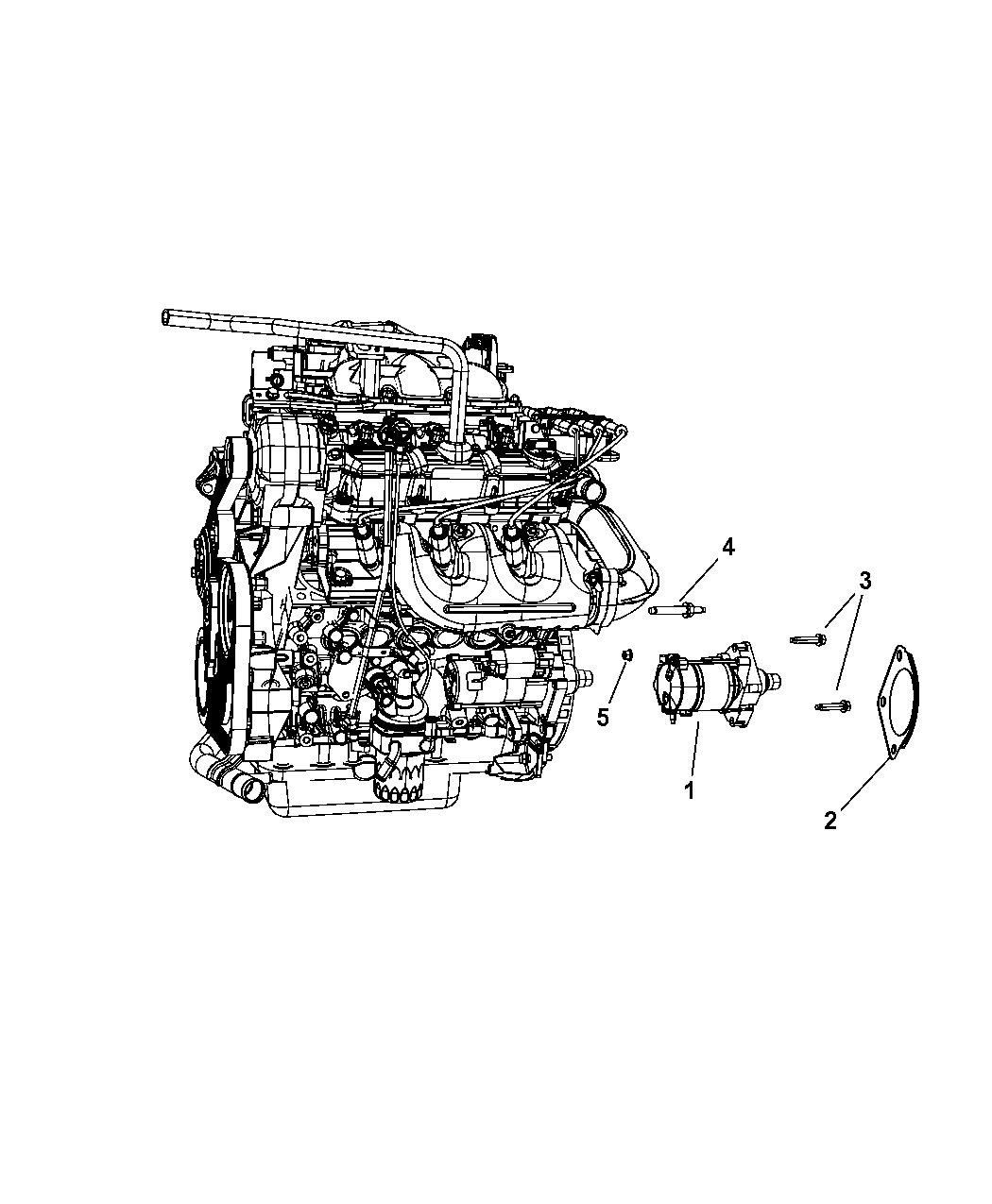 Genuine Mopar STARTER-ENGINE