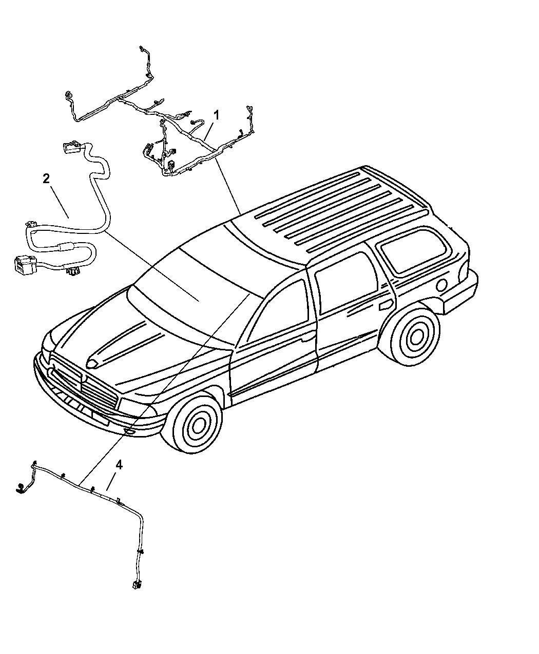 2008 Chrysler Aspen Wiring Body
