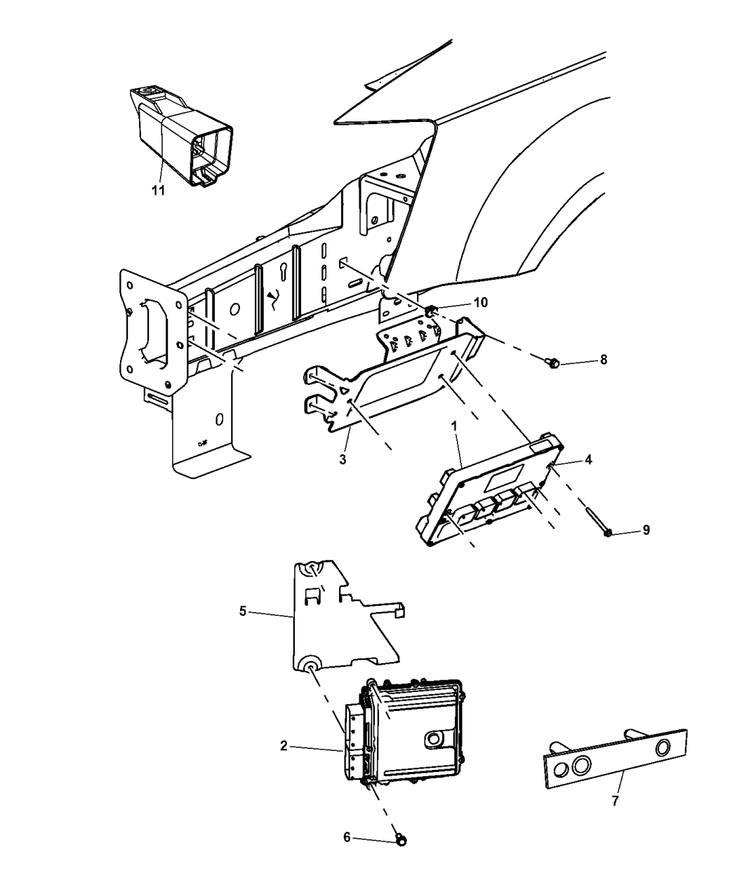 2014 Dodge Grand Caravan Modules Engine Compartment