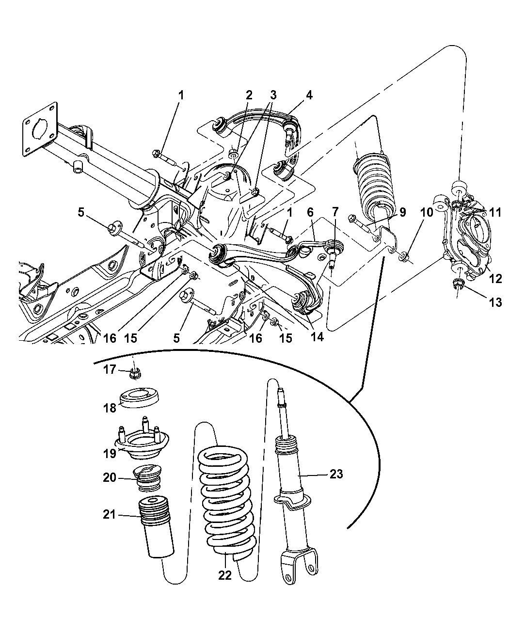 Genuine Mopar BOLT-CONTROL ARM CAM