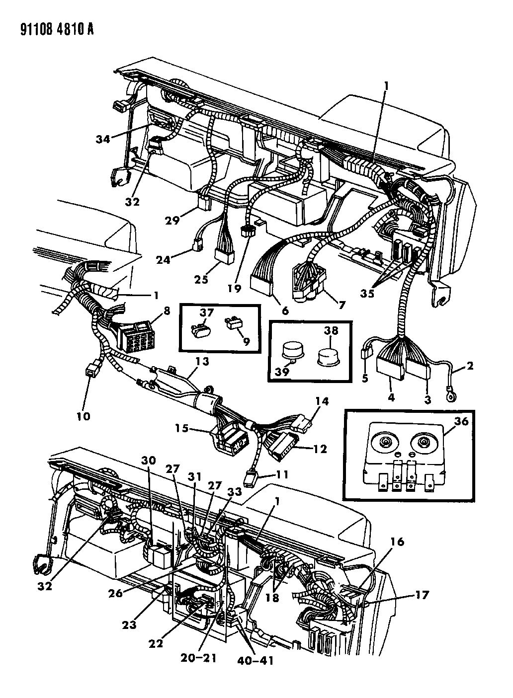 1991 dodge shadow wiring - instrument panel