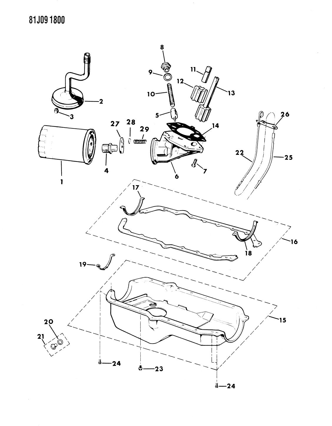 1985 Jeep Grand Wagoneer Engine Oiling - Thumbnail 1