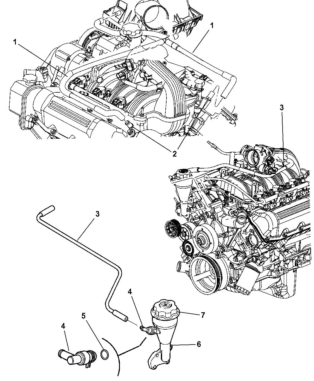 2006 Jeep Commander Crankcase Ventilation - Thumbnail 2