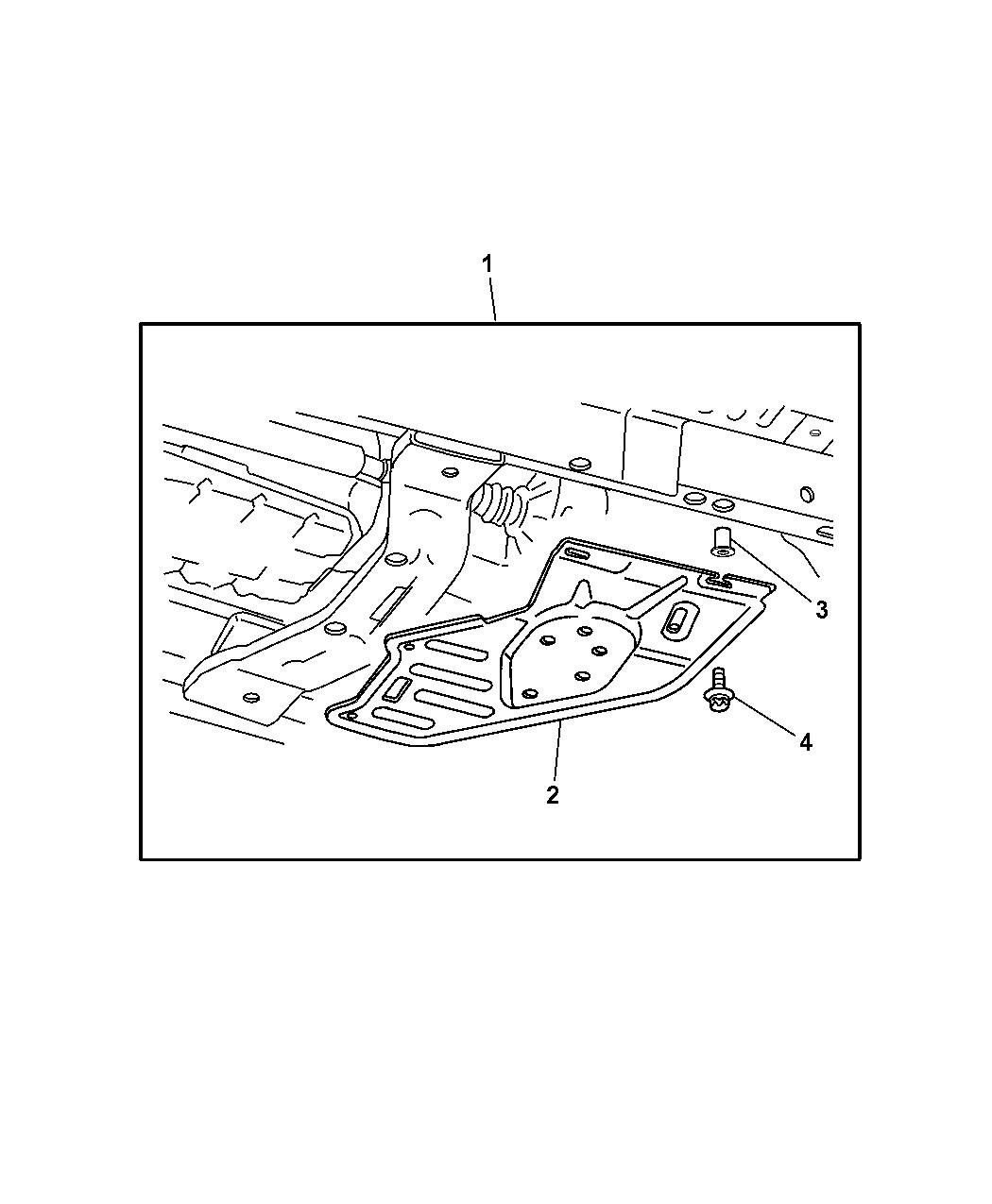 82208421 - Genuine Mopar Plate-skid