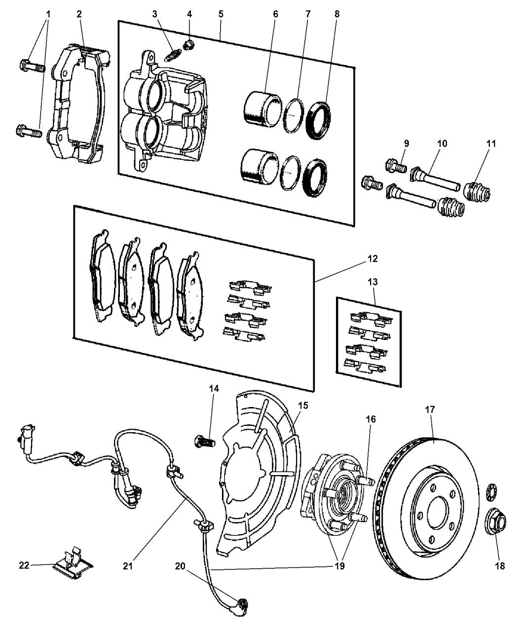 52089434ac genuine jeep hub bearing brake. Black Bedroom Furniture Sets. Home Design Ideas