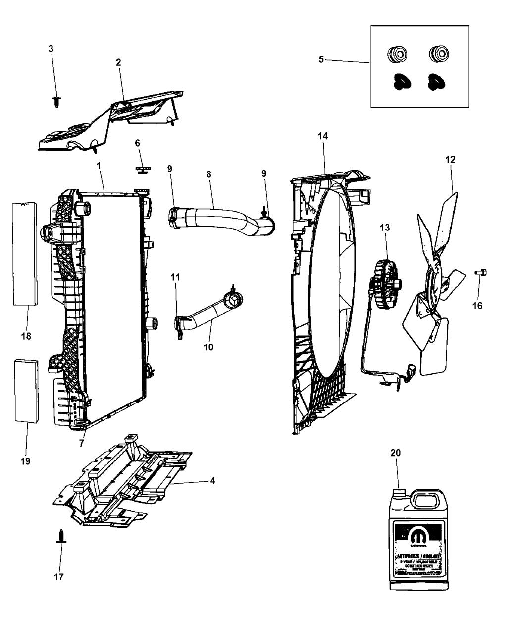 2012 Ram 3500 Pickup Radiator  U0026 Related Parts