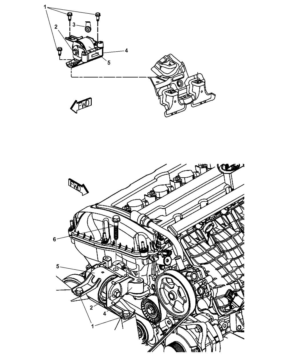 5105489AH - Genuine Mopar INSULATOR-ENGINE MOUNT