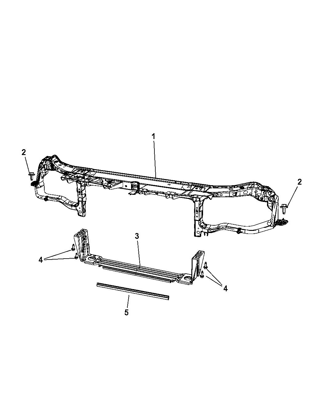 2012 Dodge Challenger Radiator Support - Mopar Parts Giant