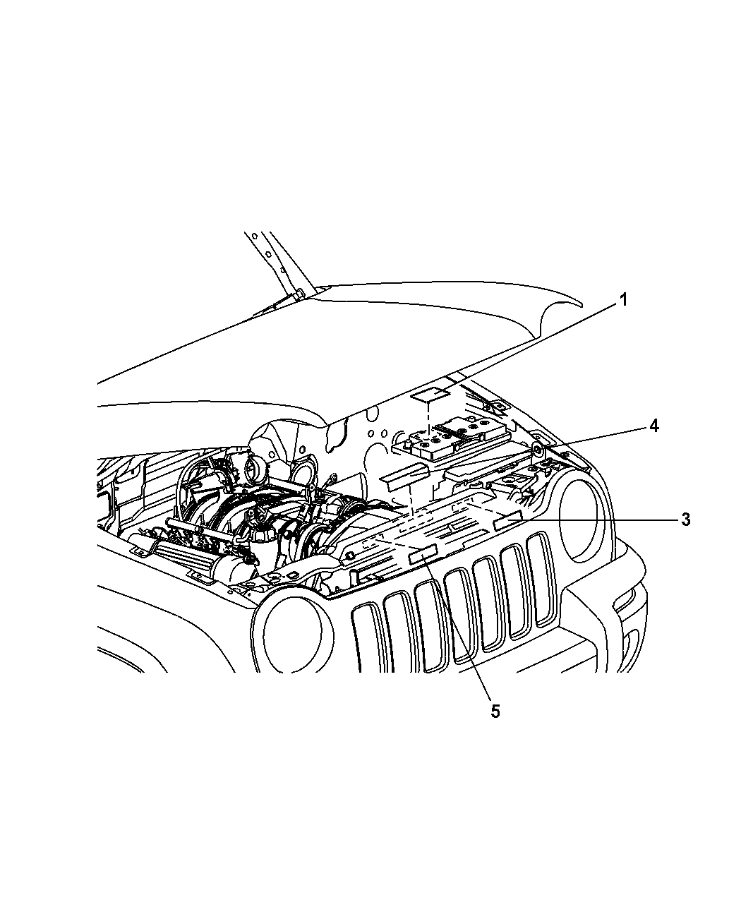 2005 Jeep Liberty Engine Compartment