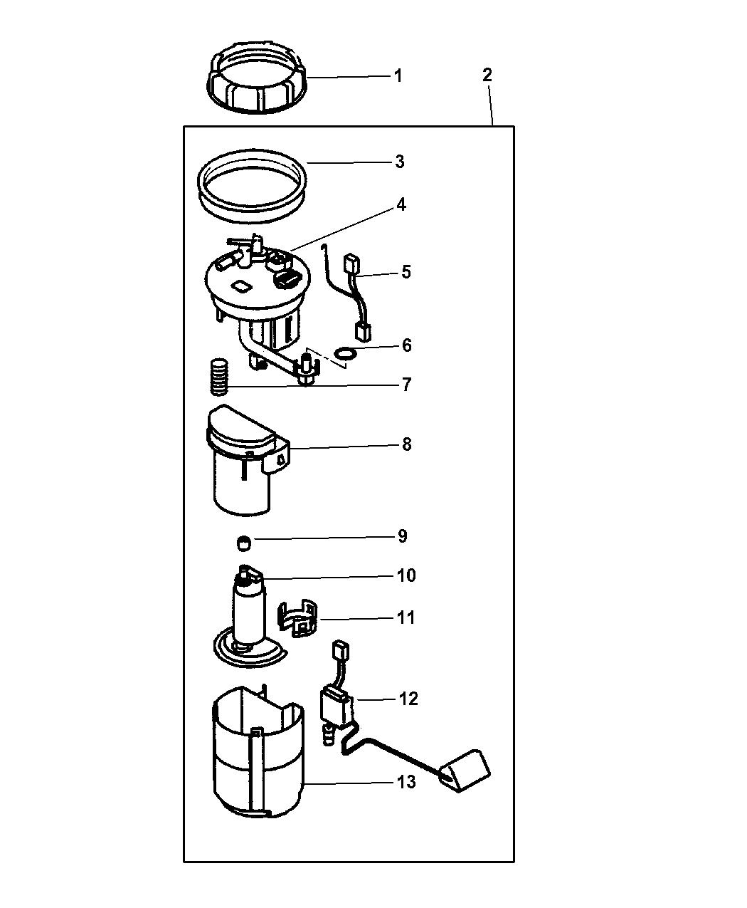 2004 Dodge Stratus Coupe Fuel Pump & Sending Unit
