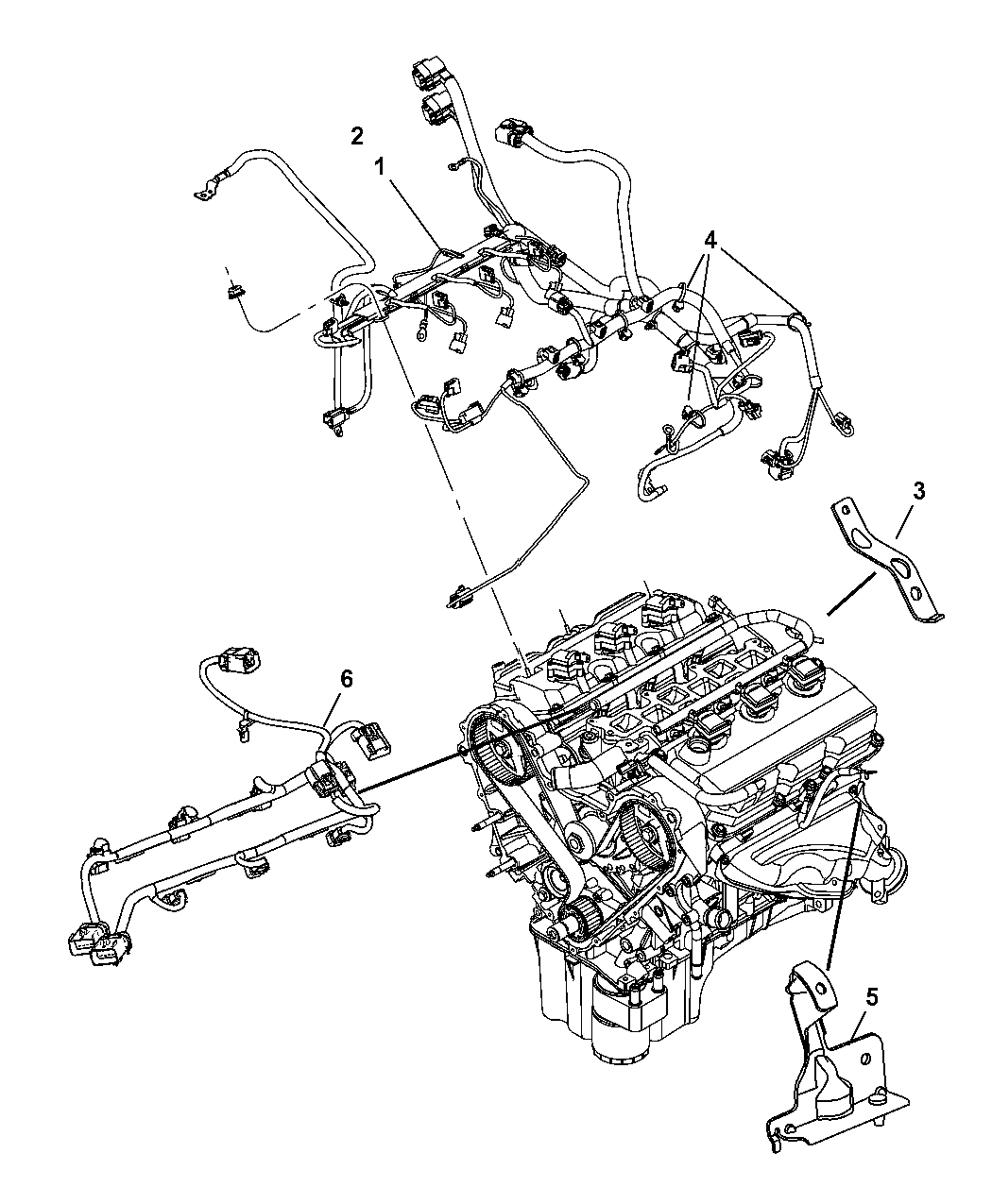 2007 Chrysler Pacifica Wiring - Engine