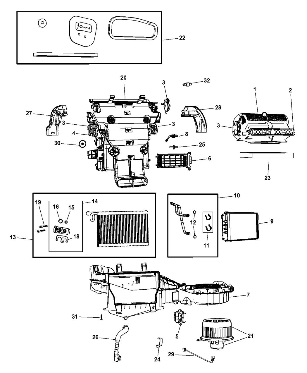 68079489AB - Genuine Jeep DOOR-FILTER ACCESS